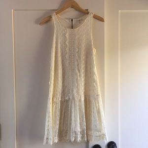 Lace drop waist dress
